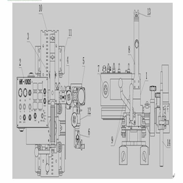 Chi tiết rùa hàn tự động HK-100S